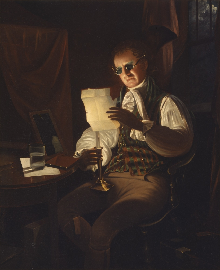 Man Reading by Candlelight
