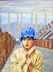 'Margaret Clark in Newcastle circa 1961', (2011). Oil on linen, 90 x 120 cm