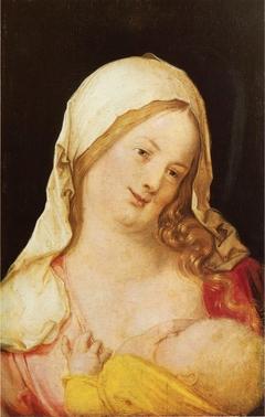Maria mit Kind an der Brust