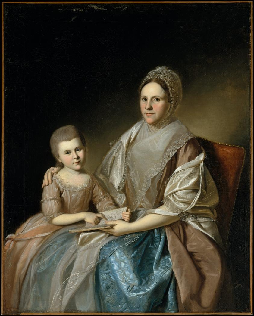 Mrs. Samuel Mifflin and Her Granddaughter Rebecca Mifflin Francis