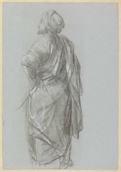 Oosterse figuur op de rug gezien