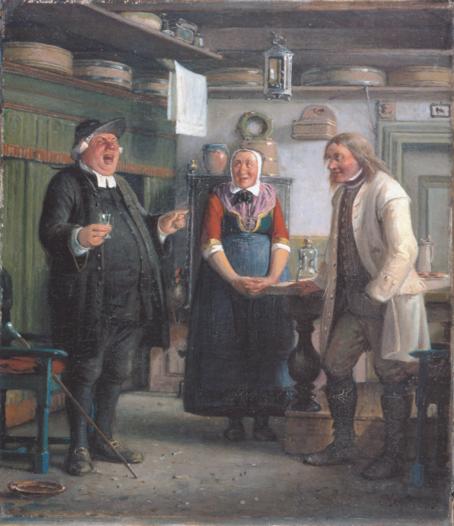 "Per Degn (Per, the deacon"") sings for a glass of akvavit."""