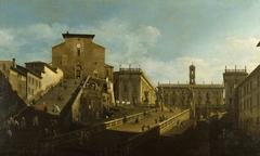 Piazza del Campidoglio with Santa Maria d'Aracoeli, Rome