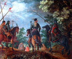 Polish Cavalry Marching through the Woods