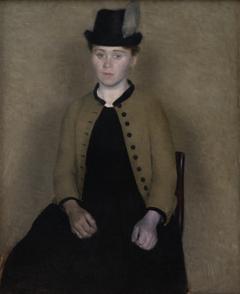 Portræt af Ida Ilsted, senere kunstnerens hustru