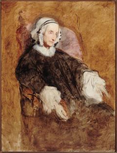 Portrait de la Reine Marie-Amélie en deuil