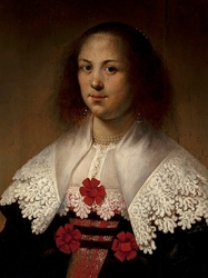 Portrait of a lady in a lace collar