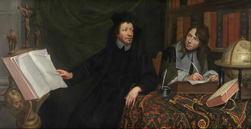 Portrait of a Theologue and his Secretary