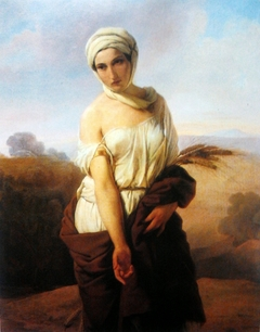 Portrait of a woman as Ruth.