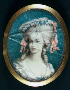 Portrait of a woman with flowers in her hair