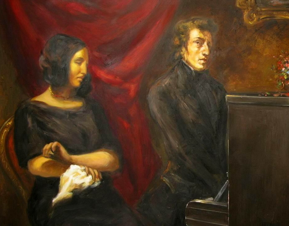 Portrait of Frédéric Chopin and George Sand