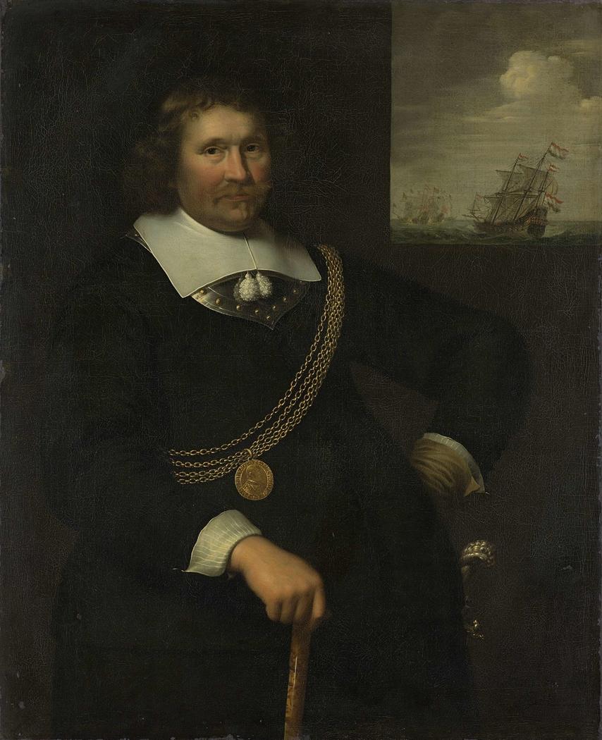 Portrait of Jan Cornelisz Meppel, Lieutenant-Admiral of Holland and West-Friesland