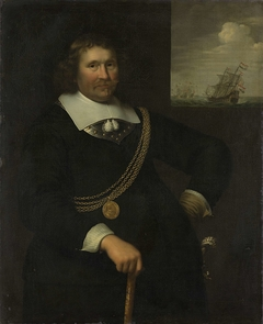 Portrait of Jan Cornelisz Meppel, Lieutenant-Admiral of Holland and West-Friesland