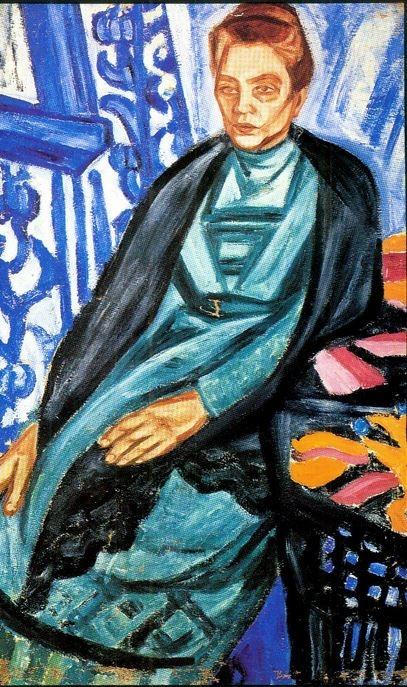 Portrait of Lady in Green Dress