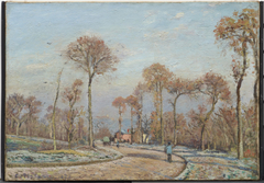 Road to Versailles, Louveciennes: morning frost