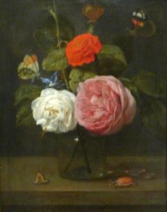 Roses with Butterflies and Insects