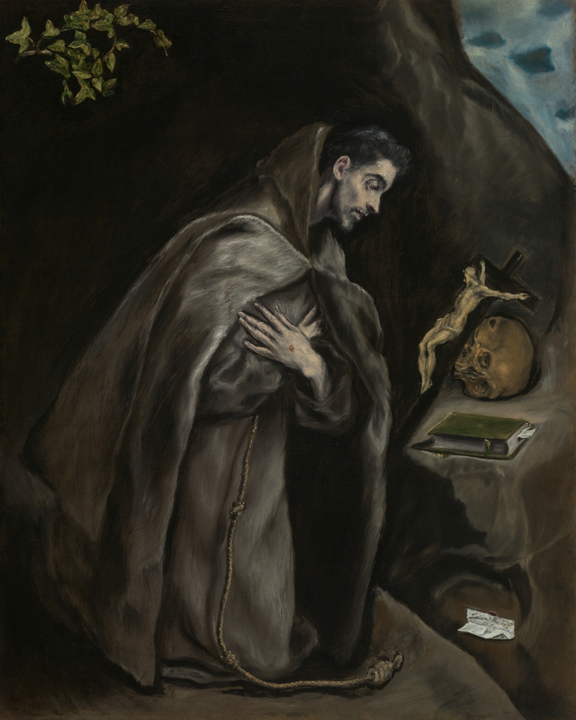 Saint Francis Kneeling in Meditation