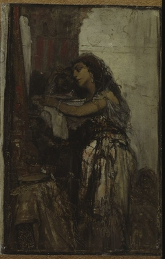 Salome with the head of St. John, sketch