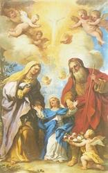 San Joaquín y Santa Ana con la Virgen niña