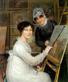 Self-portrait of Rolinda Sharples with her mother Ellen Sharples