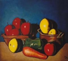 Serie bodegones. Bodegón con frutas