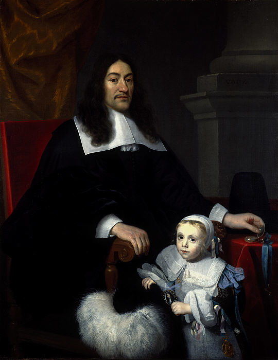 Sir William Davidson of Curriehill, 1615 / 1616 - 1689. Conservator of the Staple at Veere (with his son Charles)