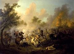 Slagveld met stervende generaal