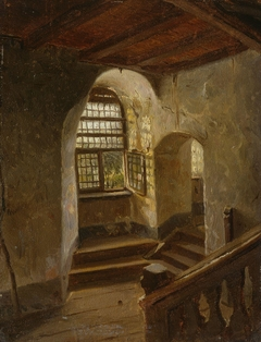 Stairway in a Castle by the Rhine