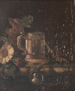 Still Life of a Tankard, Flowers and a Medal