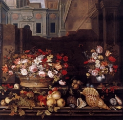 Still Life with Flowers, Fruit, and Shells
