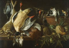 Still Life with Games and Vegetables