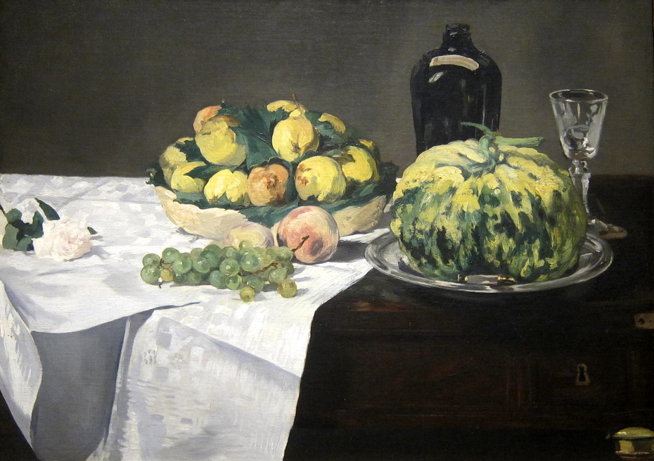 Still Life with Melon and Peaches