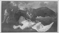 Stillleben mit Adler, Hund und totem Schwan (zugeschrieben)