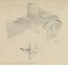 Studies voor de kleding van een vluchtende monnik