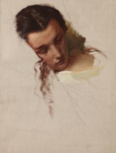 "Study to the Painting ""The Death of Barbara Radziwiłł"" – Head of Quinn Barbara"