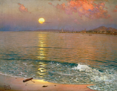 Sun dawn over the Coast of Malaga