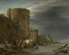 The City Wall of Haarlem in the Winter