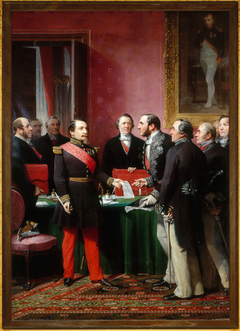 The Emperor Presents to Haussmann the Plan of Annexation of the Communes