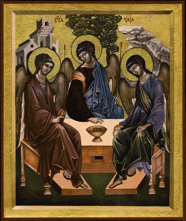 The image of the Holy Trinity of the Old Testament