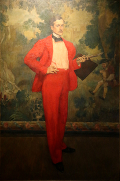 The man in red or Portrait of the painter Paul Baignères