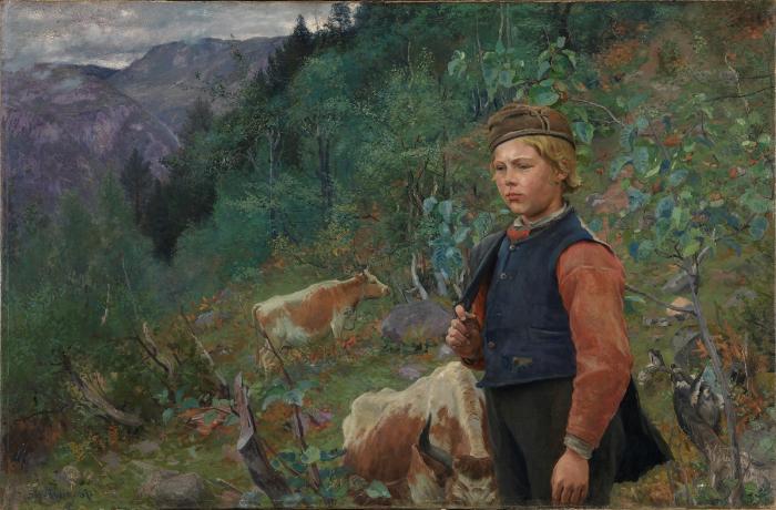 The Poet Vinje as Shepherd Boy