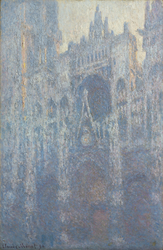 The Portal of Rouen Cathedral in Morning Light