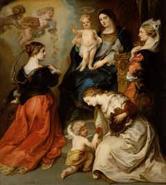 The provinces of Brabant, Hainaut and Flanders pay homage to the Virgin
