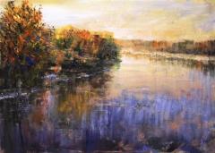 """The river """"Bosut"""" in impression"""