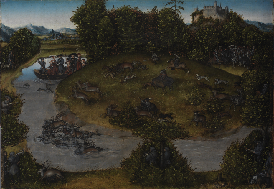 The Stag Hunt of the Elector Frederic the Wise (1463-1525) of Saxony,