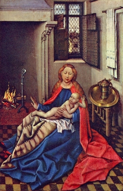 The Virgin and Child by a Fireplace (Right Wing of a Diptych)