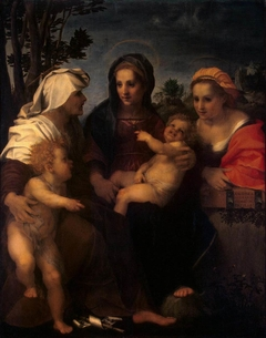 The Virgin and Child with St Catherine, St Elizabeth and St John the Baptist