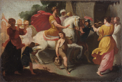 Triumph Davids nach dem Sieg über Goliath