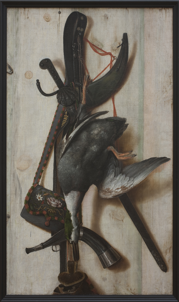 Trompe l'Oeil with Dead Duck and Hunting Implements