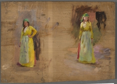 Two sketches of Tartar women. From the journey to Crimea
